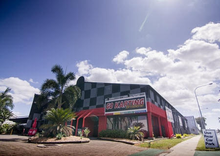 View of Go Karting Brisbane from Kingsford Smith Drive at Eagle farm
