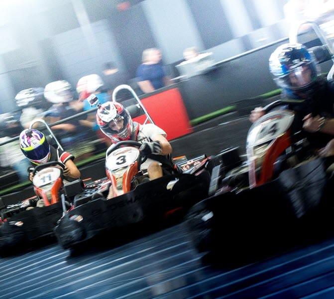Go Karts drifting at Slideways
